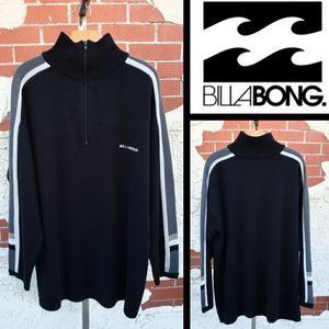 XL tall men BILLABONG 1/4 zip black sweater